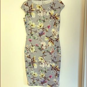 SALE! 2 for $25 Sleeveless Floral Grey Bodycon